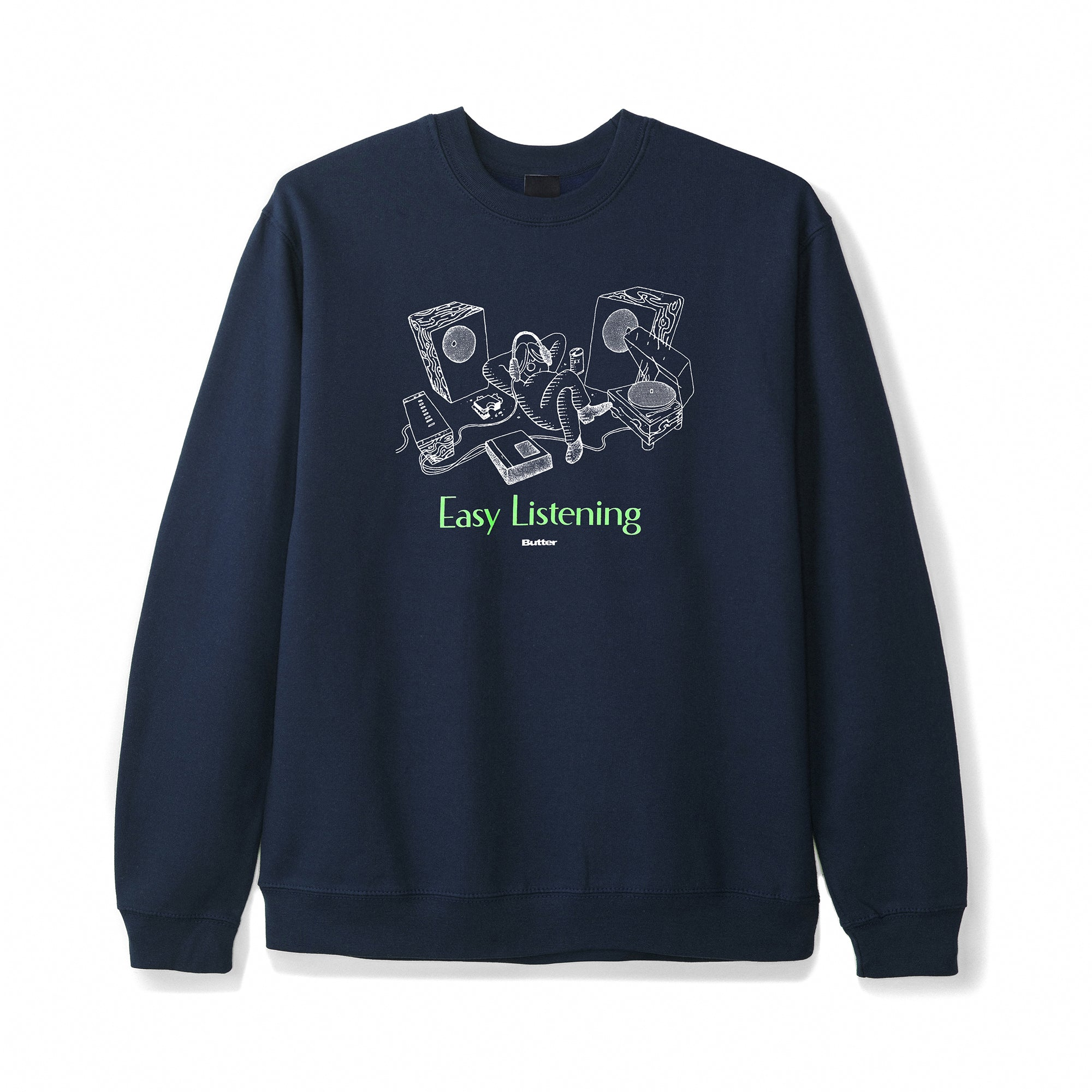 Butter Goods Easy Listening Crewneck Product Photo #1