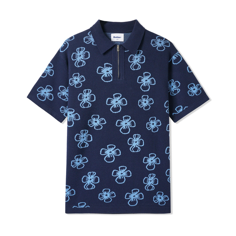 Butter Goods Flower Zip Polo Product Photo