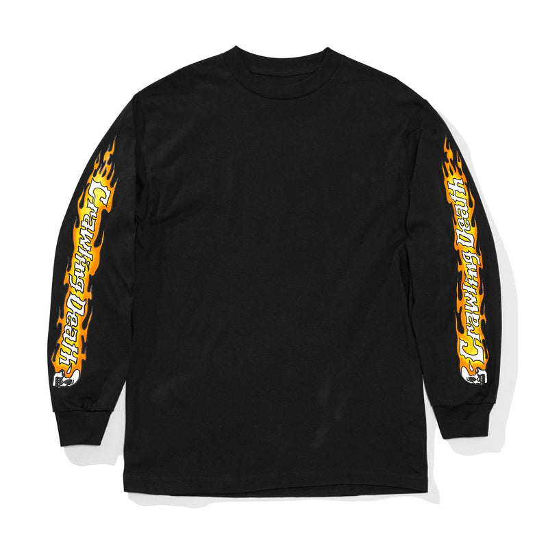 Crawling Death Flame Sleeves Longsleeve Tee Product Photo