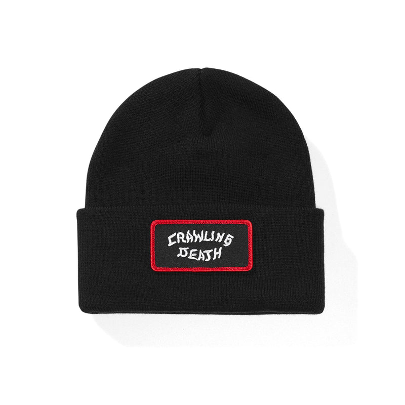Crawling Death Red Border Patch Beanie Product Photo