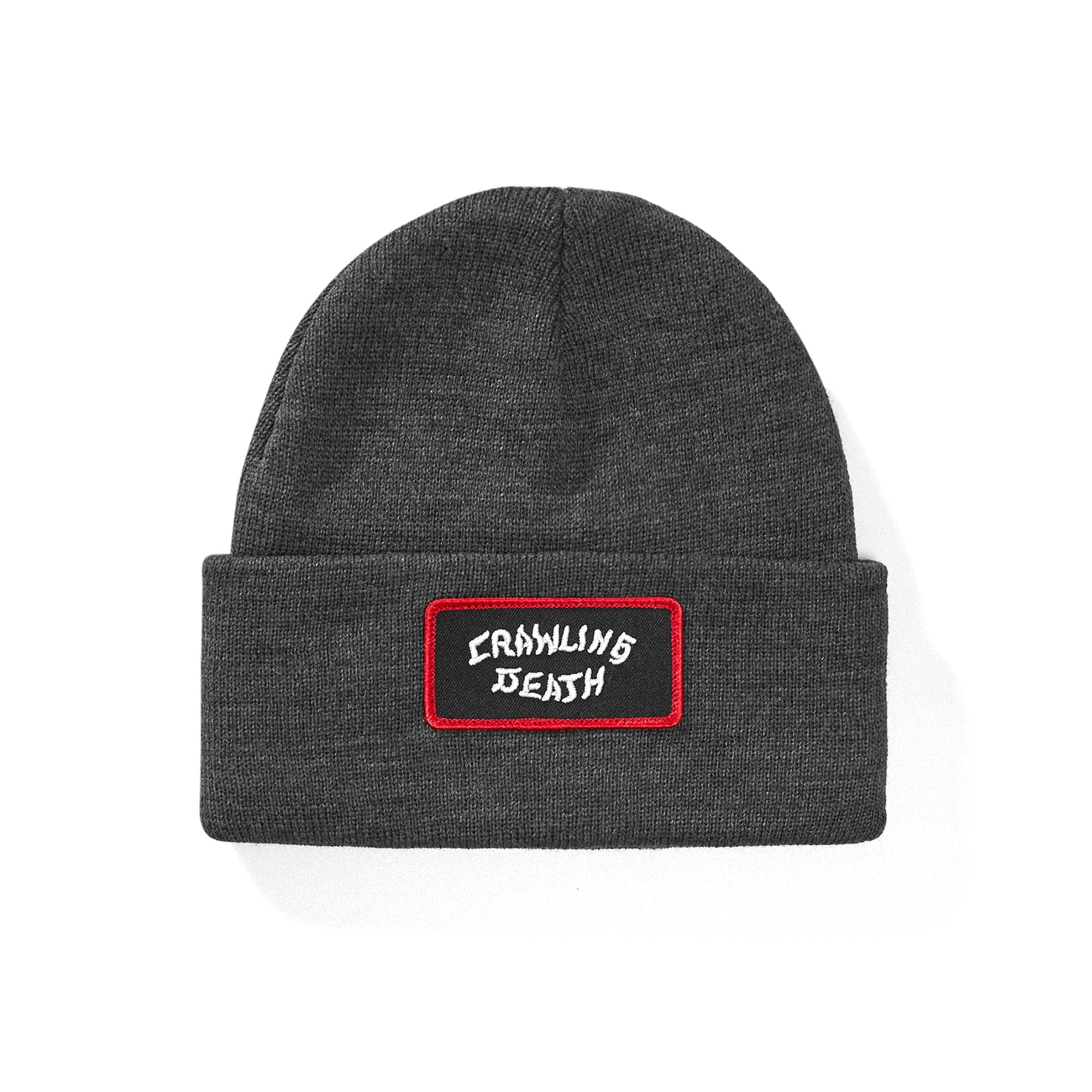Crawling Death Red Border Patch Beanie Product Photo #1
