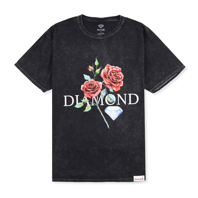 Diamond Red Rose Mineral Wash Tee Product Photo