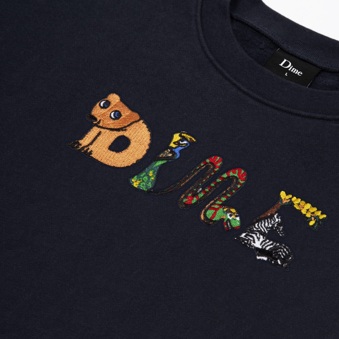 Dime Zoo Embroidered Crewneck Product Photo #2