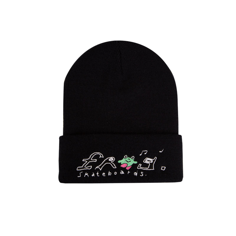 Frog Happy Dirty Beanie Product Photo
