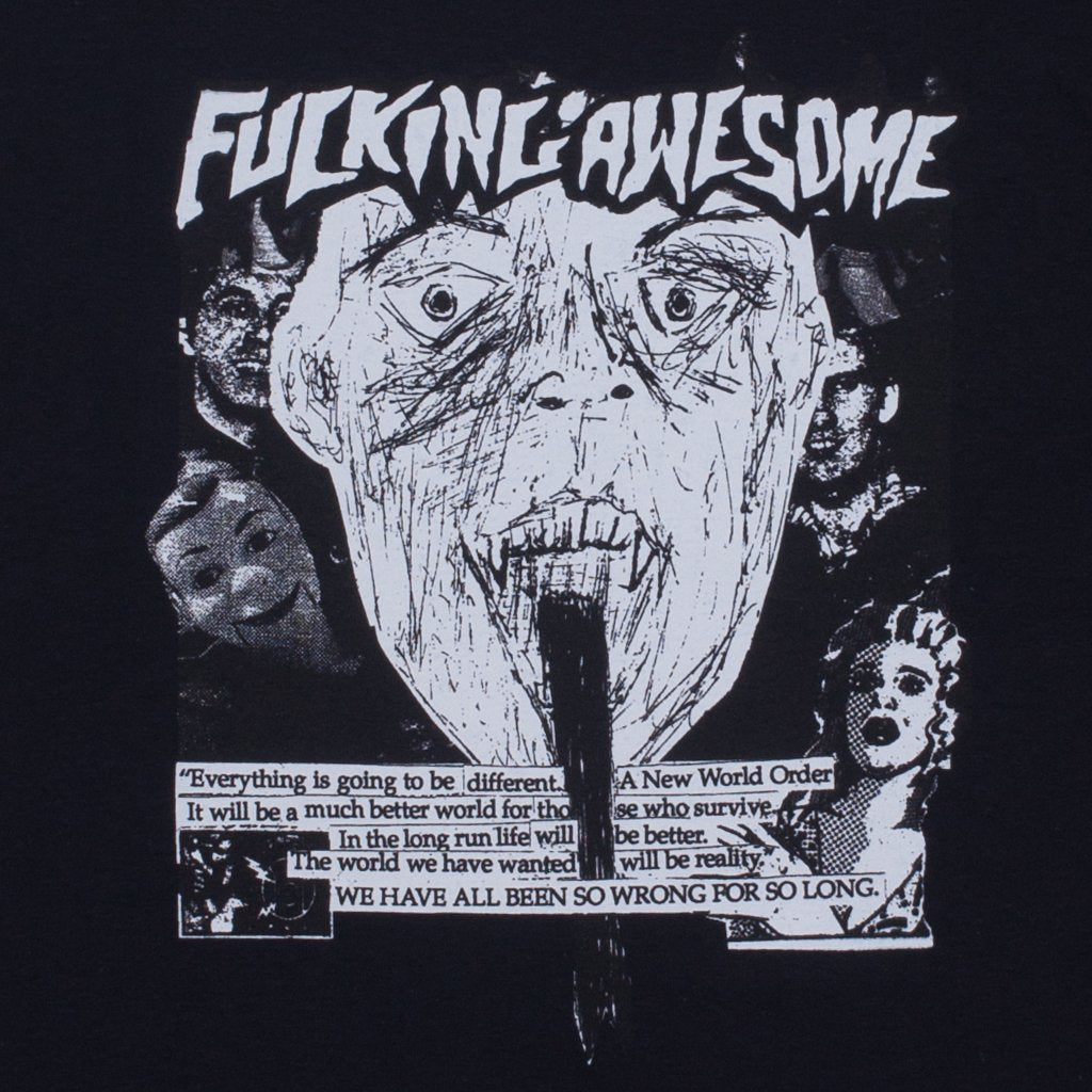 Fucking Awesome Face Reality Tee Product Photo #2