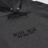 HOTEL BLUE EMBROIDERED LOGO HOODIE