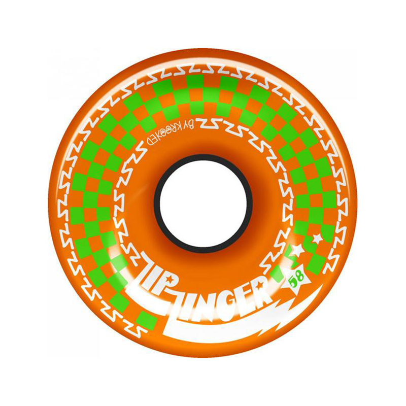 Krooked Zip Zinger Wheels - Orange / 58mm Product Photo