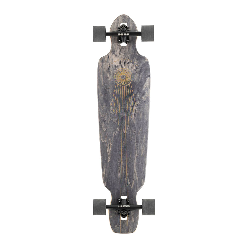 Landyachtz Battle Axe Black Space Rock Complete Product Photo