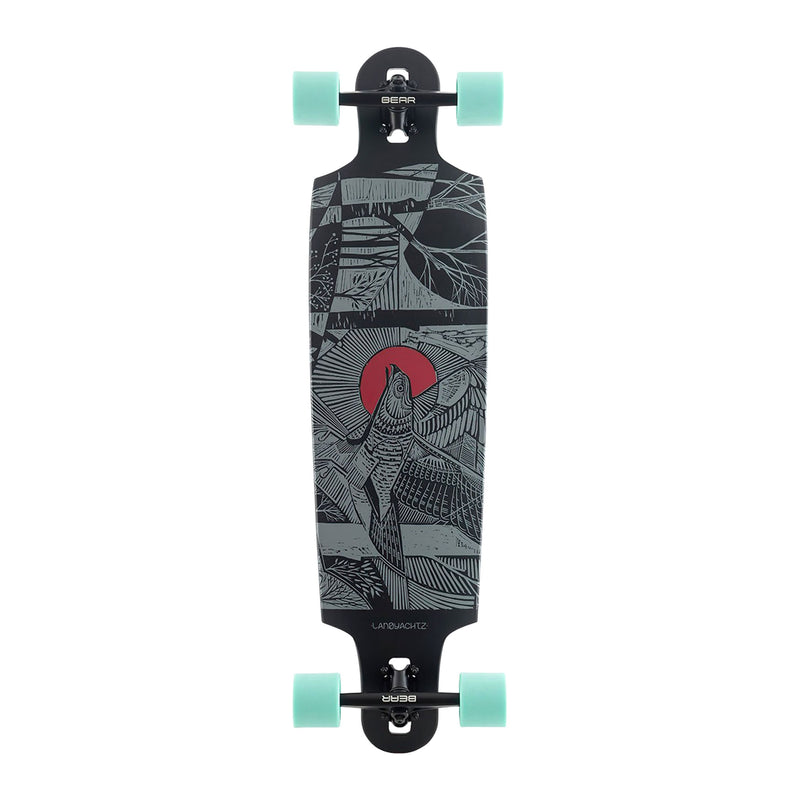 Landyachtz Drop Cat 38 Seeker Black Complete Product Photo