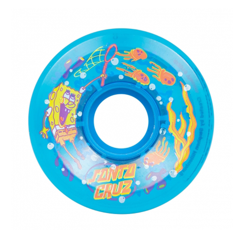 Santa Cruz Sponge Bob Wheels Blue - 60mm Product Photo