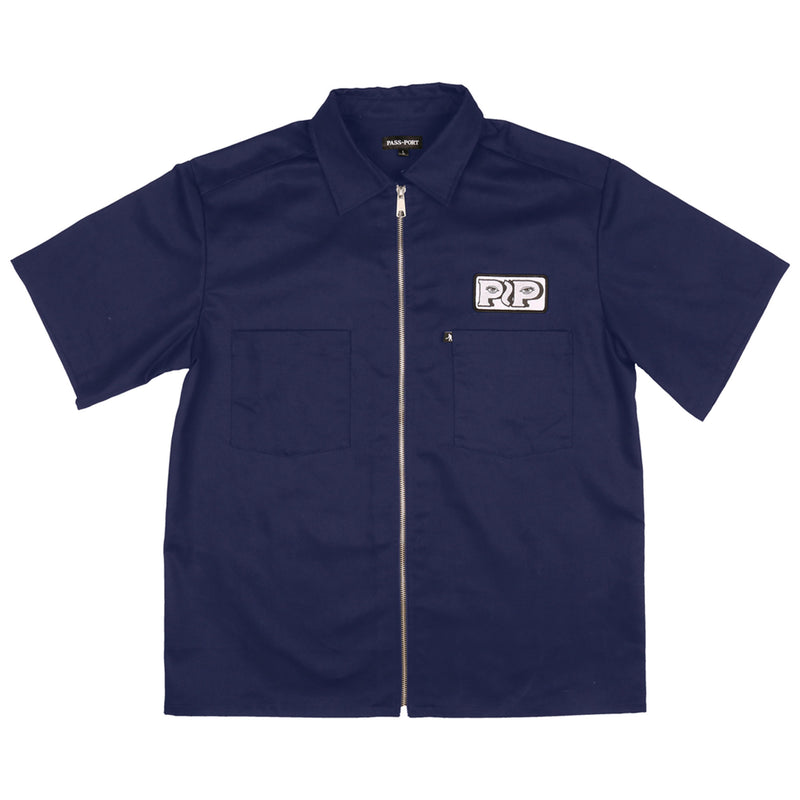 Passport Workers Zip Up S/S Shirt Product Photo