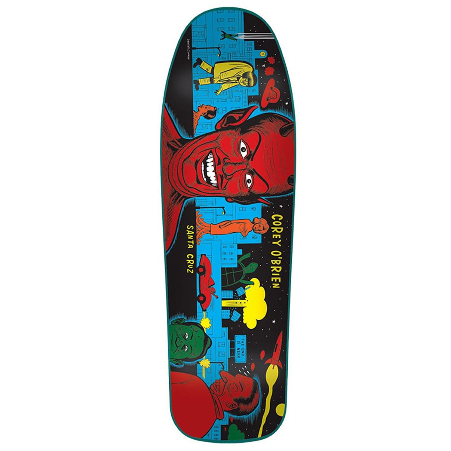 SANTA CRUZ O'BRIEN MUTANT CITY REISSUE DECK - 9.75