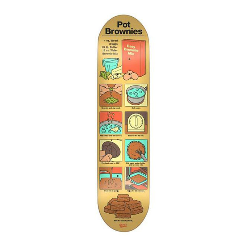 Skate Mental Pot Brownies Deck Product Photo