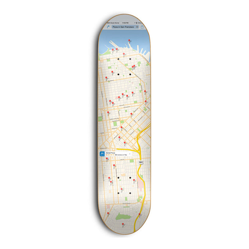 Skate Mental SF Pizza Map Deck Product Photo