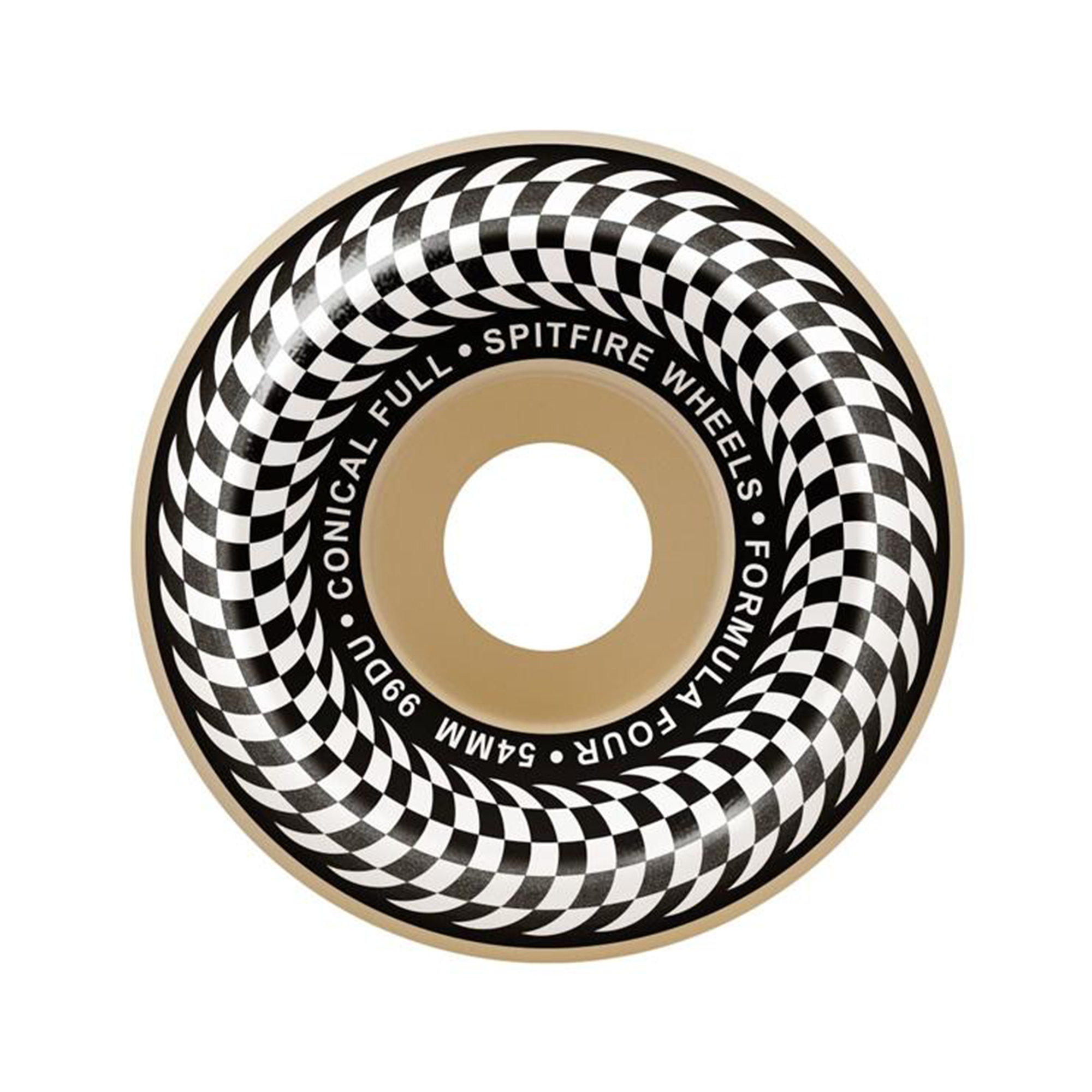 SPITFIRE FORMULA FOUR CHECKER WHEELS 99 - WHITE / 52MM