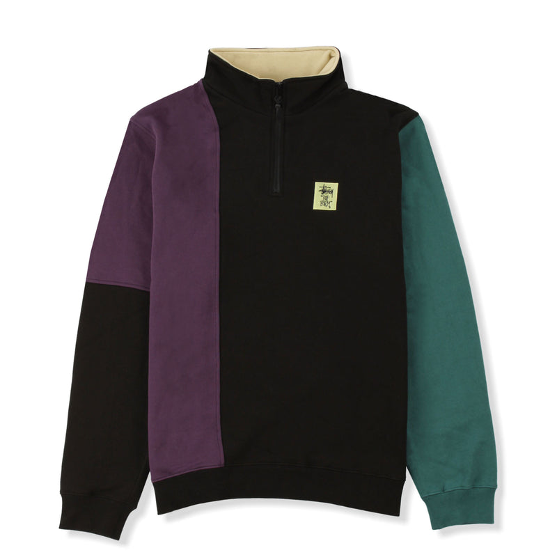 Stussy Colour Panel 1/4 Zip Crew Product Photo