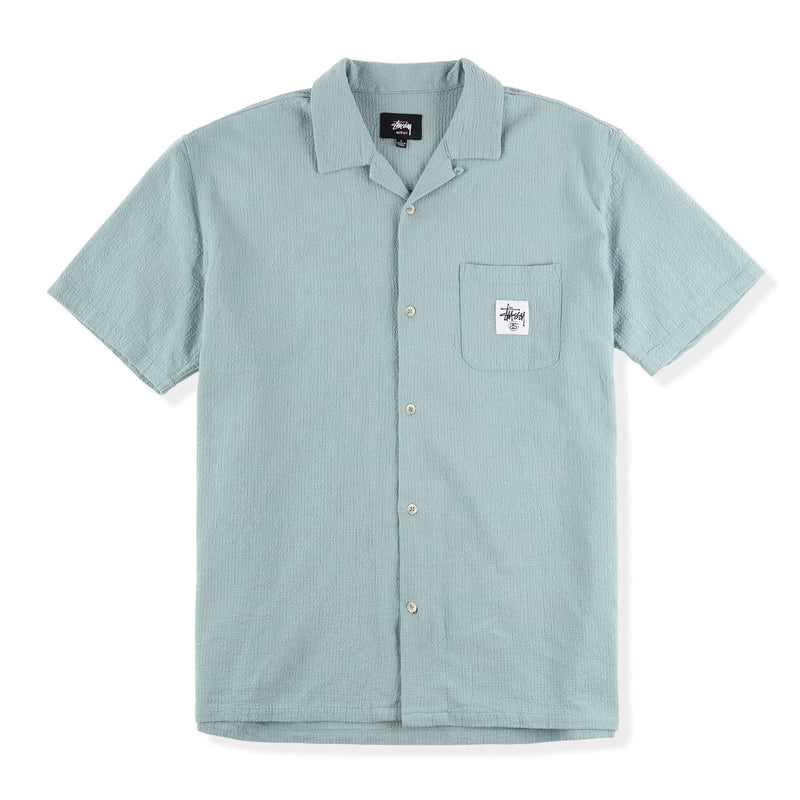 Stussy Grid Seersucker S/S Shirt Product Photo