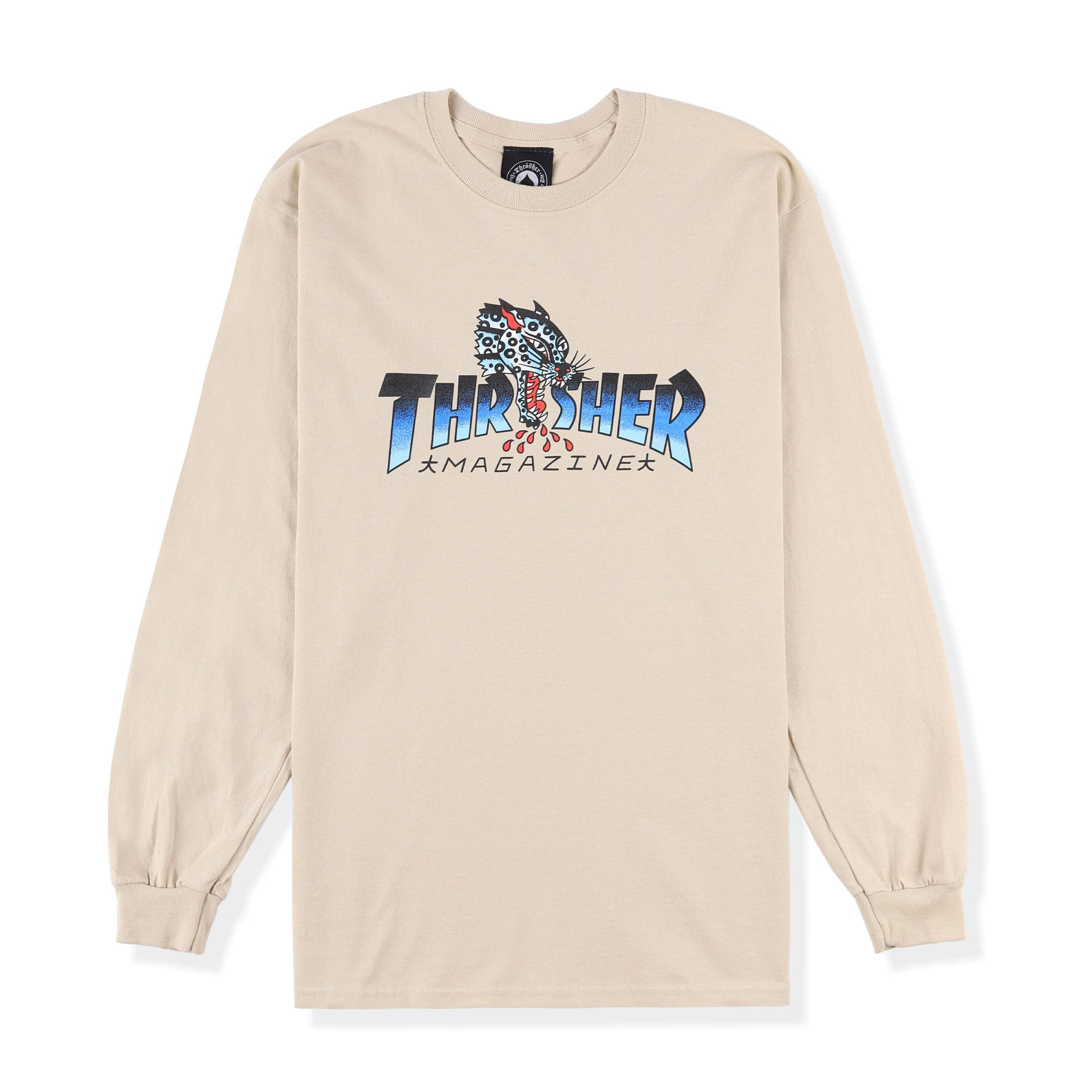 Thrasher Leopard Mag Longsleeve Tee Product Photo #1