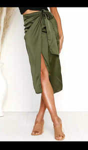 Wrap Me Up Skirt- Sage