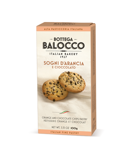 Balocco Bottega Cookie Line Orange 80g