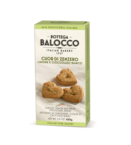 Balocco Bottega Cookies Ginger & lemon 100g