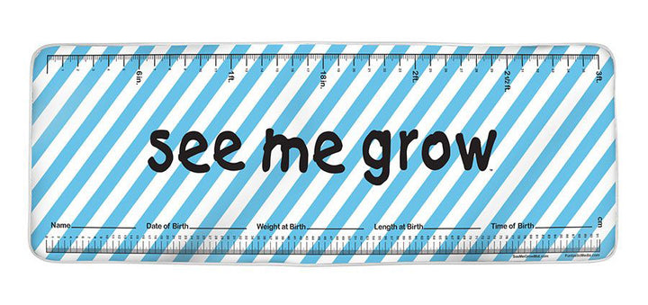 Blue Diagonal Strips See Me Grow™ Mat