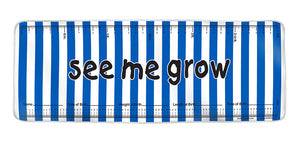 Navy Stripes See Me Grow™ Mat