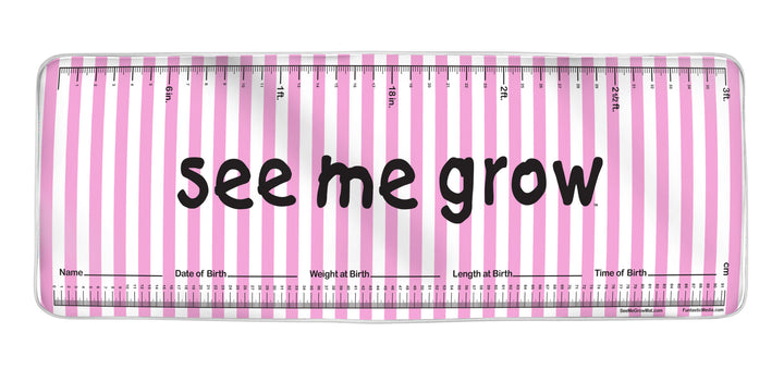 Pink Stripes See Me Grow™ Mat