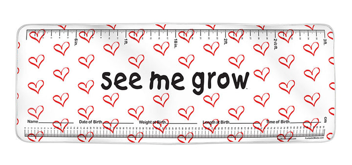 Red Hearts See Me Grow™ Mat
