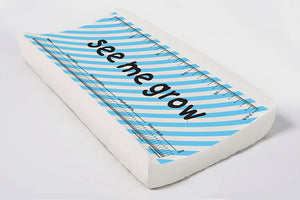 Blue Diagonal Stripes Elastic Cover