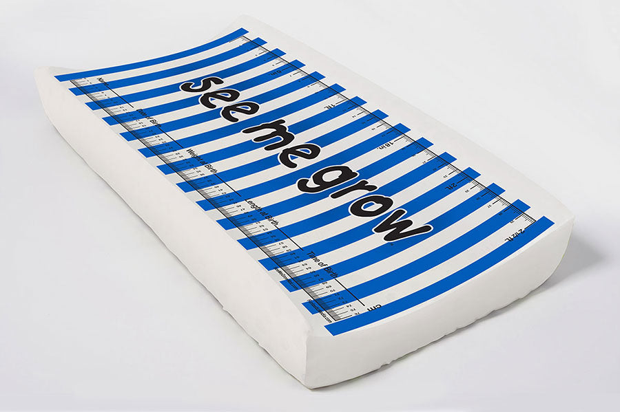 Navy Stripes Elastic Cover