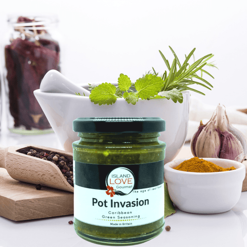 Vegan Pot Invasion Caribbean Green Seasoning - Island Love Gourmet