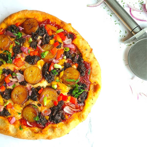 Loaded Vegan Jerk Pizza
