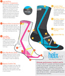 Fox River Peak Velox LX Lightweight Compression Athletic Crew Socks