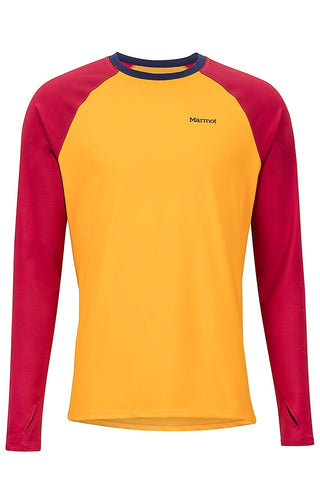 Marmot Men's Midweight Harrier LS Crew Neck Shirt