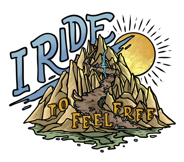 Why I Ride Project design #1, I Ride to Feel Free.