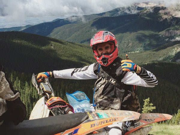 Brian Pierce high in the Rocky Mountain is Colorado during a Seat Time Adventures trip.