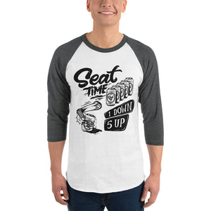 One Down, Five Up Shirt | Grey and White Raglan