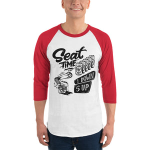 One Down, Five Up Shirt | Red and White Raglan