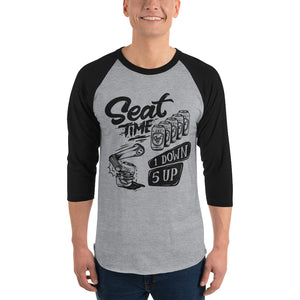 One Down, Five Up Shirt | Black and Grey Raglan