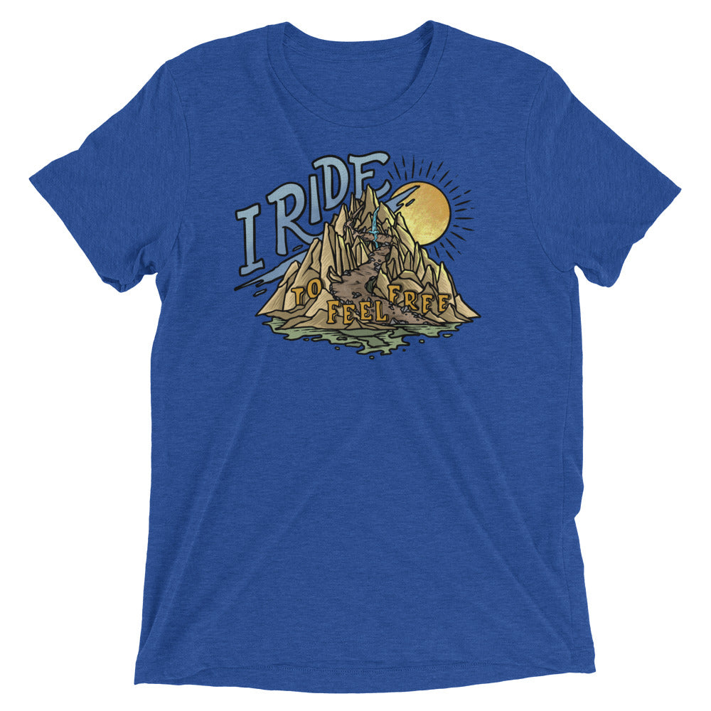 I Ride to Feel Free Short Sleeve T-shirt
