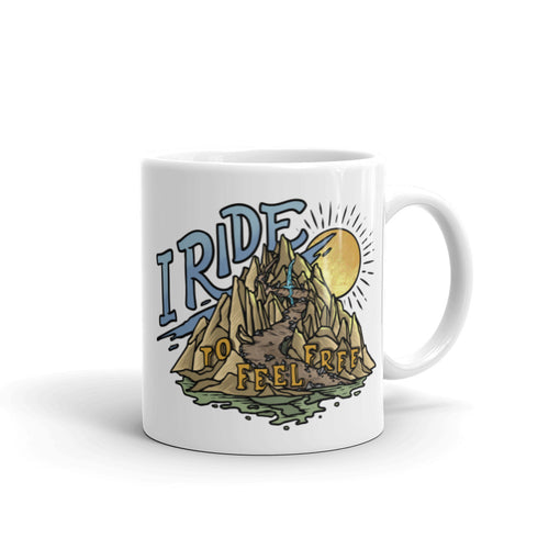 I Ride to Feel Free Coffee Mug from the Why I Ride Project
