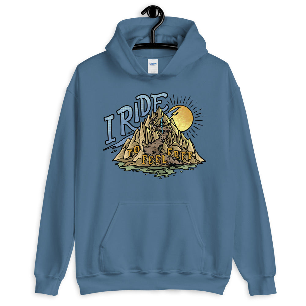 I Ride to Feel Free Hoodie from the Why I Ride Project