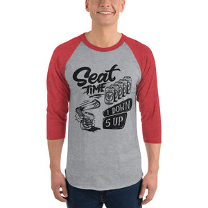 One Down, Five Up Shirt | Red and grey raglan