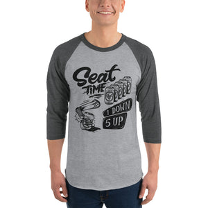One Down, Five Up Shirt | Grey and Heather Raglan