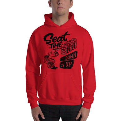 One Down, Five Up Motorcycle Hoodie | Bright Red
