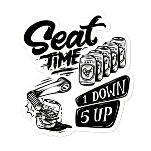 One Down, Five Up Motorcycle Stickers | 5""