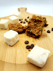 Marshmallow Blondies: Chocolate Chip Chickpea - Funky Mello