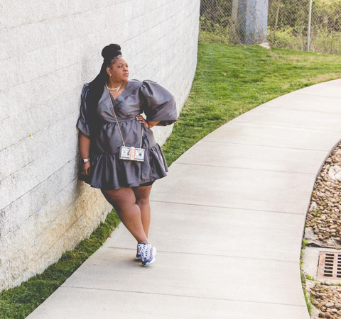 plus size dress with sneakers