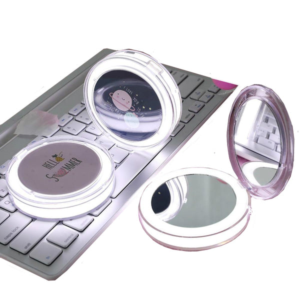 LED Lighted Mini Makeup Mirror